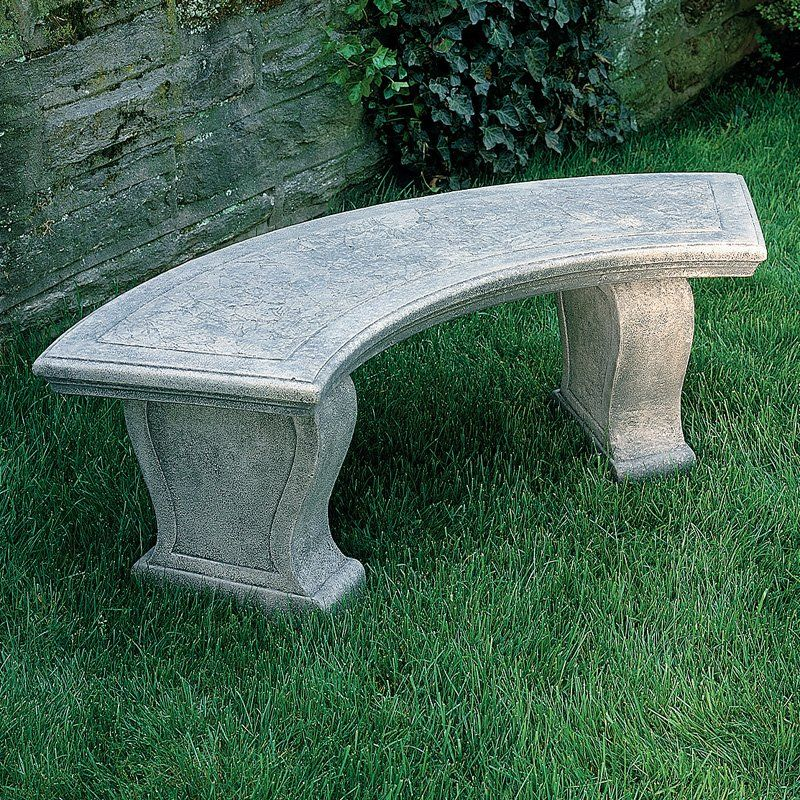 Attractive Campania International Curved Leaf Cast Stone Backless Garden Bench    Outdoor Benches At Hayneedle