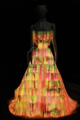 Dress made out of LED lights Stock Photo - 8473644