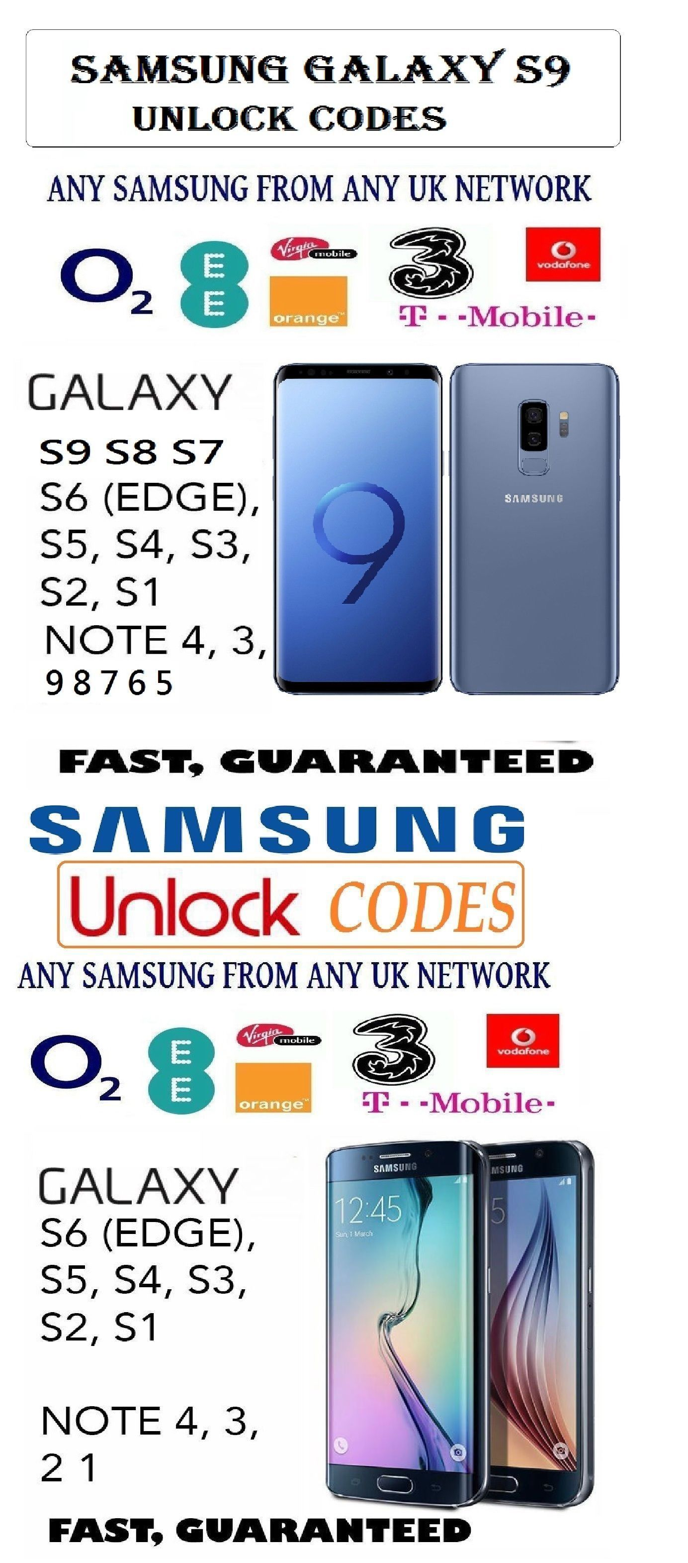 samsung network unlock code software