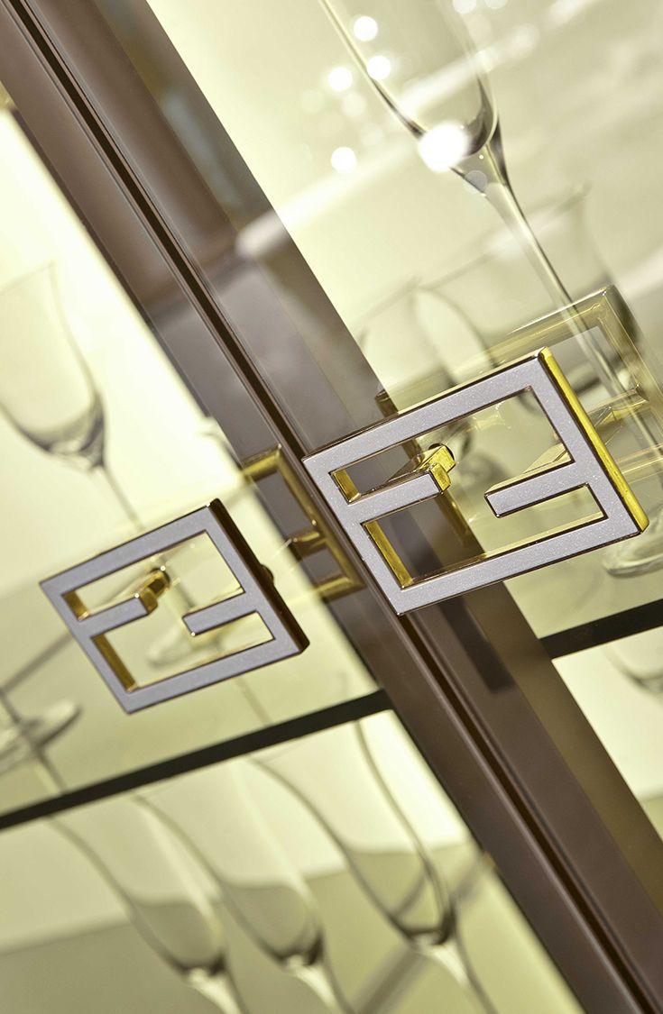Glass Cabinet close-up at Villa Ada by Fendi Casa Ambiente Cucina ...