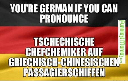 You know you're german when ..