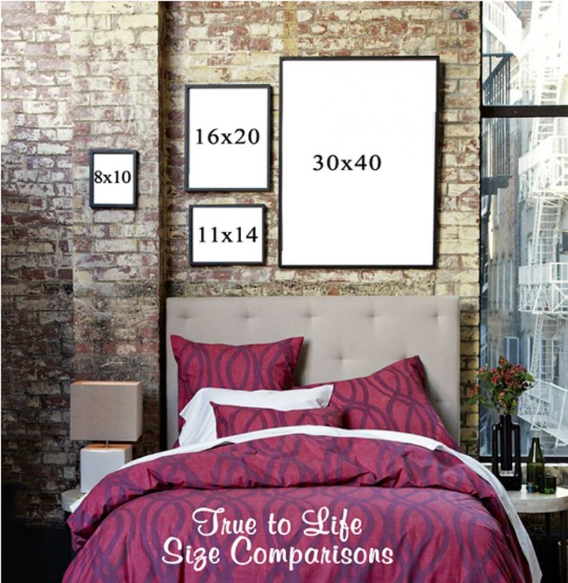 50 Master Bedroom Ideas That Go Beyond The Basics: PRINT SIZE COMPARISONS » Janet Wolbarst Photography