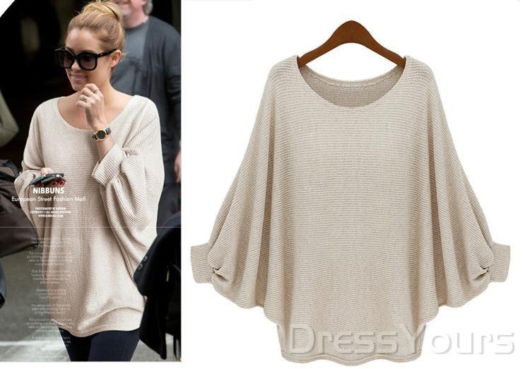 $ 39.69 Fashion European Style Loose Bat Sleeve Sweater
