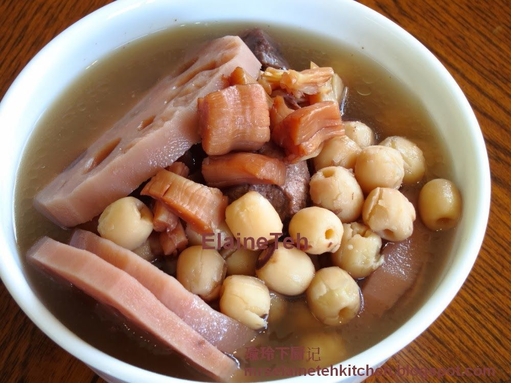 双莲干贝汤 Soup Dish Food Chinese New Year Food