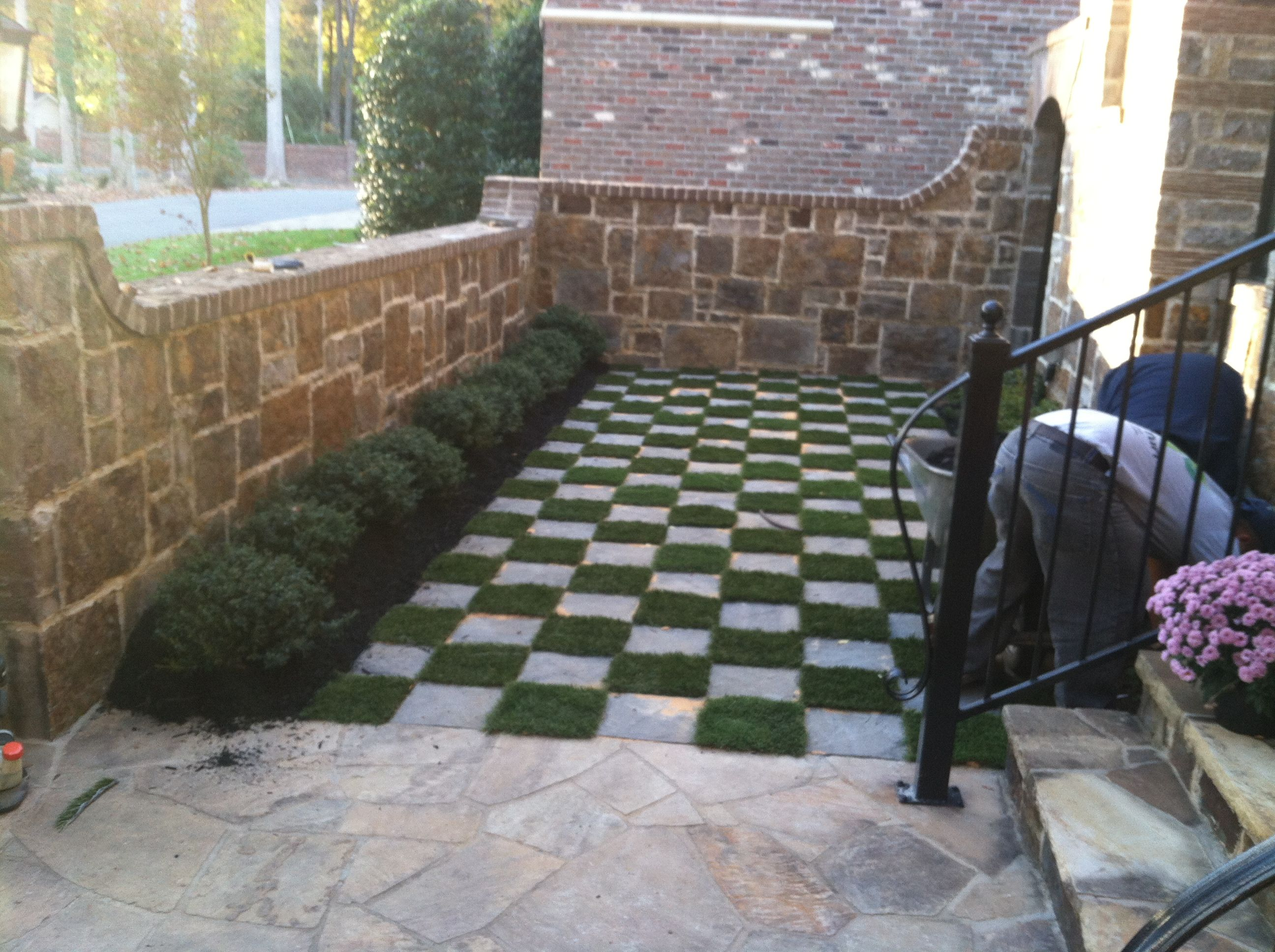 Working On Finishing This Project Artificial Turf And Ve