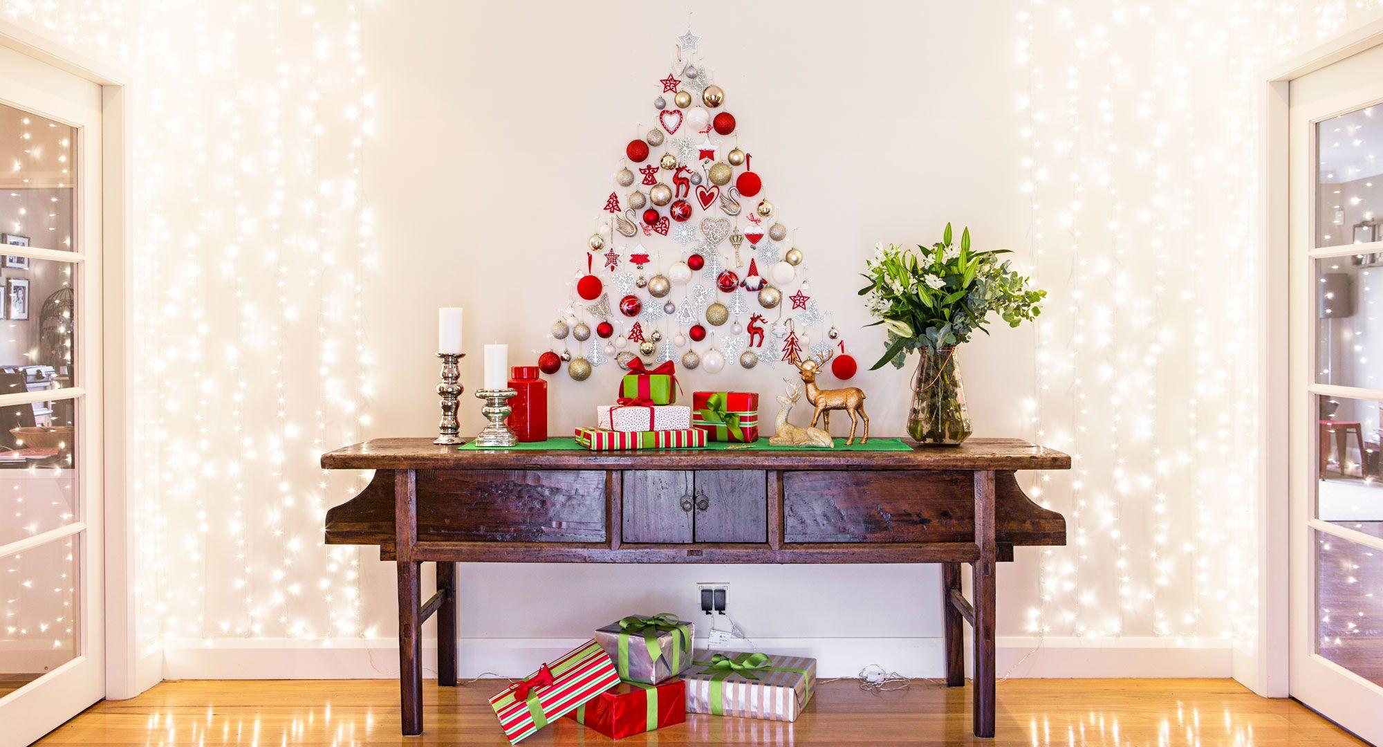 How to make a wall christmas tree christmas pinterest wall