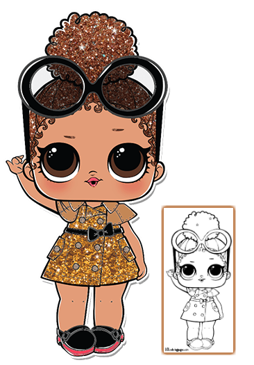 Boss Queen Coloring Page Lol Dolls Cool Coloring Pages Paper Dolls