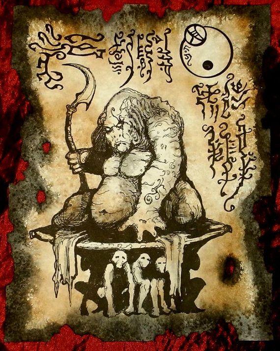 Señor de la NAAGONS Necronomicon fragmento larp Lovecraft cthulhu demonios de monstruo