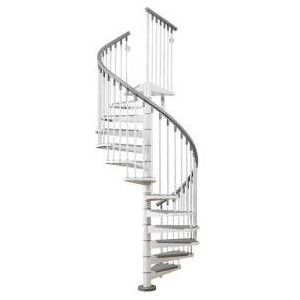 Best Arke 4 Ft 7 In White Eureka Spiral Staircase Kit 640 x 480
