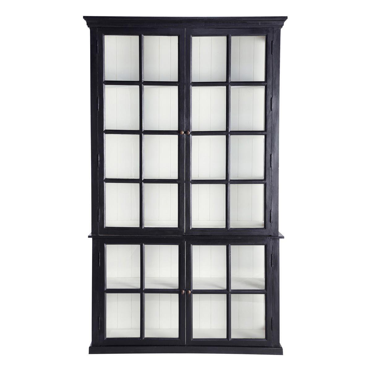 Bücherregal Klassisch bücherregal aus mangoholz b 135 cm schwarz descartes wohnzimmer