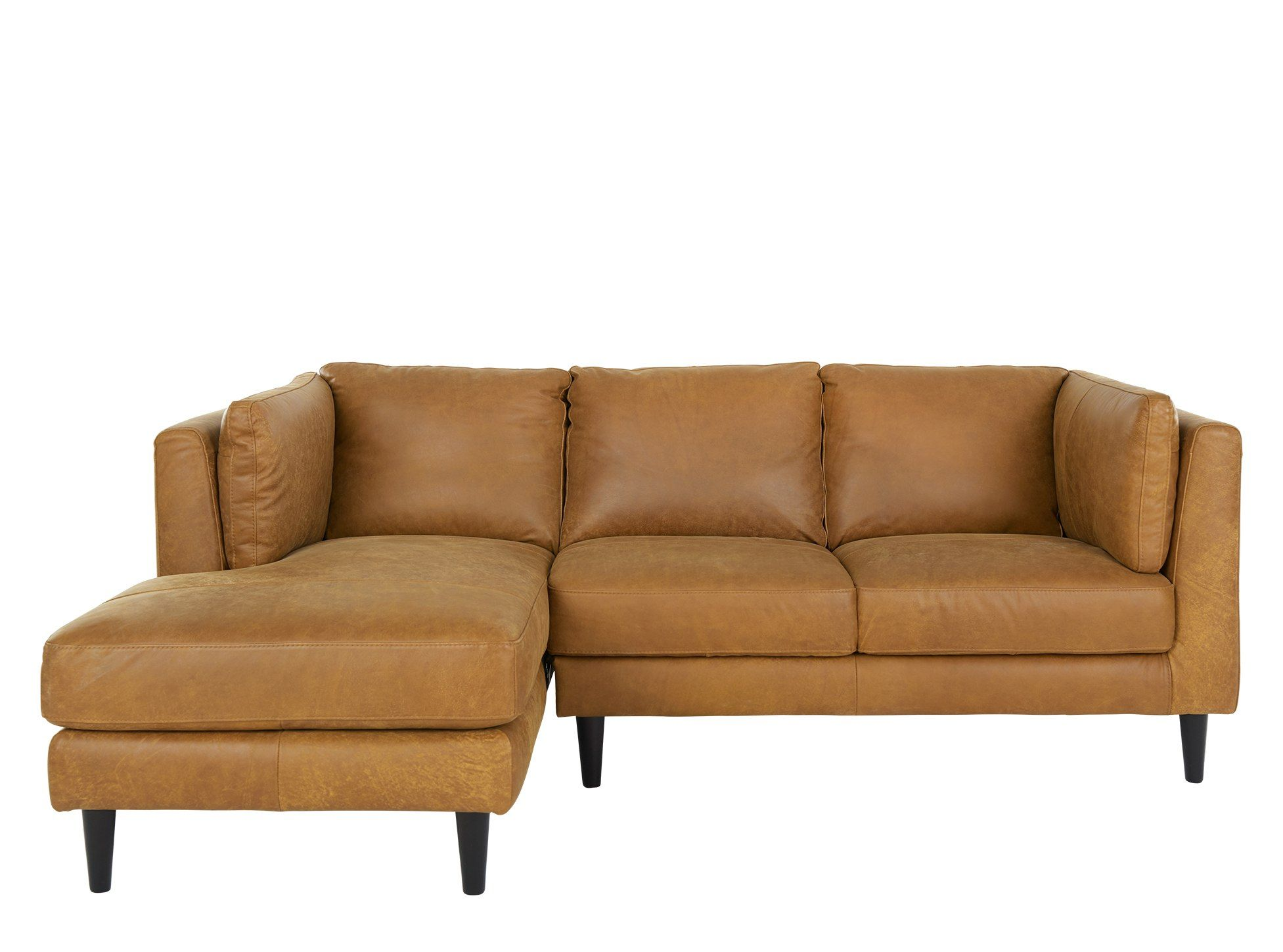 Lindon Left Hand Facing Chaise End Corner Sofa, Outback Tan