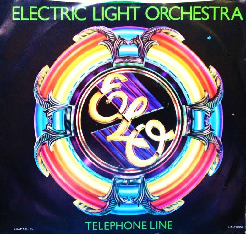 Elo Telephone Line Retro Music Elo Albums Album Art Design