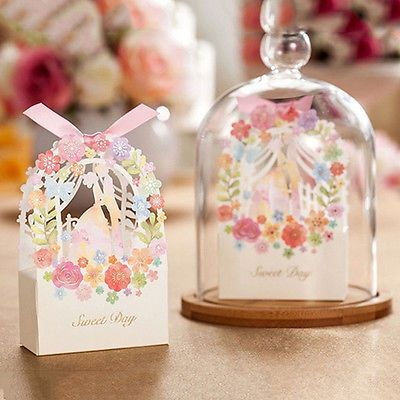Wholesale Wedding Favor Candy Box Party Bags Ribbon Gift