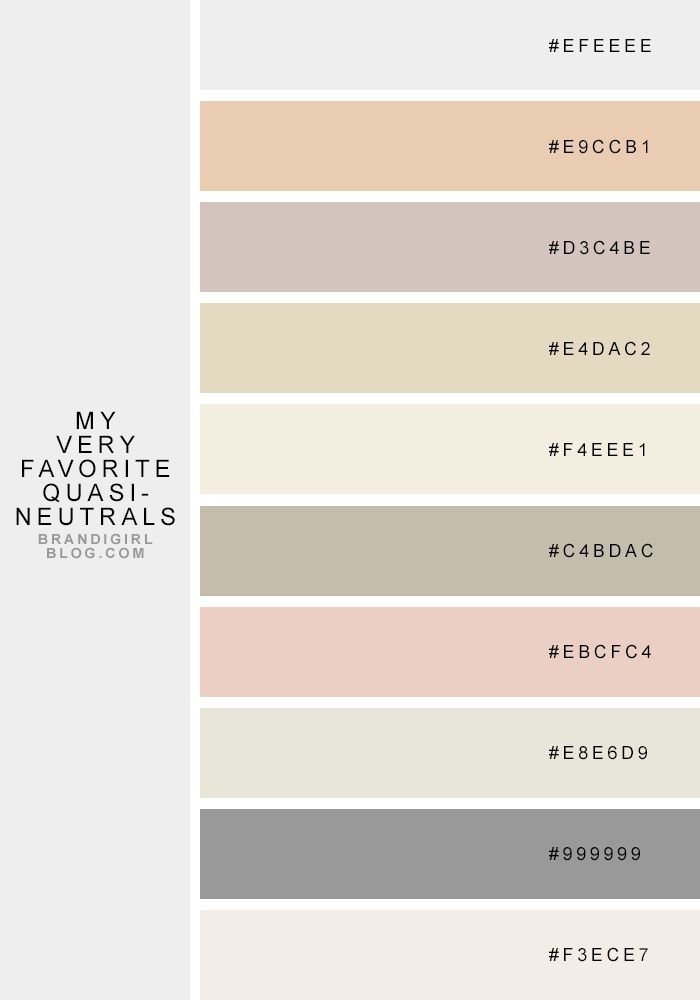 favorite quasi-neutrals - 4 pale citrine Color Palette from Brandi Girl