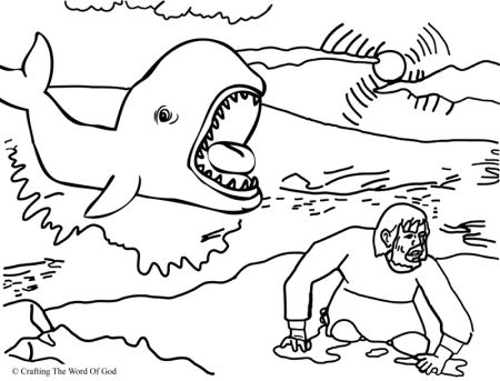 Jonah And The Fish Coloring Page | Sunday School -- Kings and ...