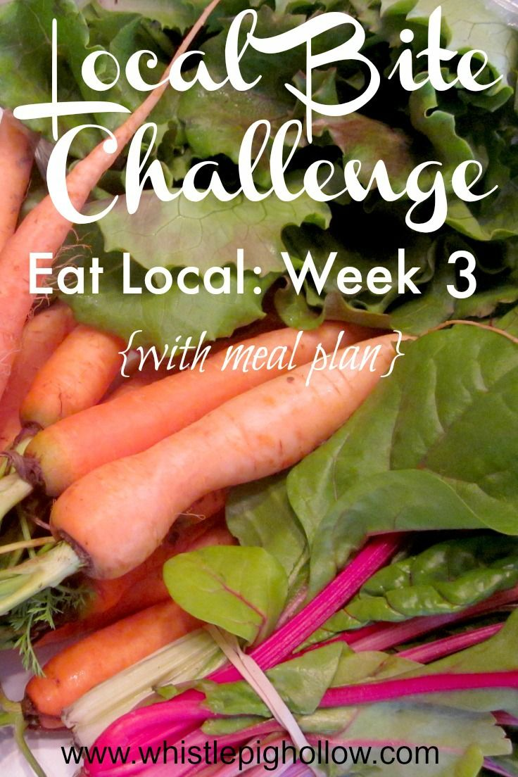 Eating local week 3 with meal plan whistle pig hollow