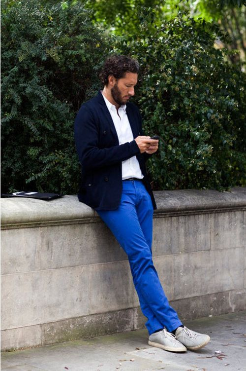 Outfit royal blue pants Mens Royal