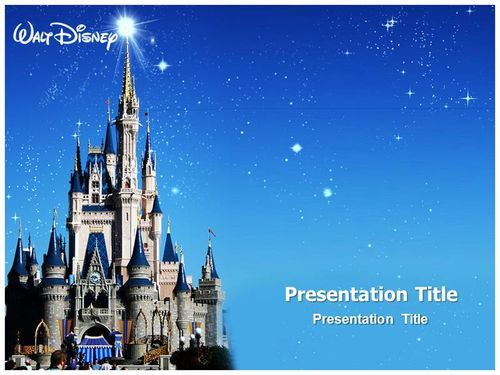Make Effective Presentation with Disney World Powerpoint Template - winter powerpoint template
