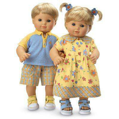 """American Girl BT BITTY TWIN TENNIS PRO OUTFIT for 15/"""" Baby Dolls Ball Sport NEW"""