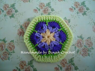 Dinahs Crochet Stuff African Flower Hexagon Tutorial Crafty