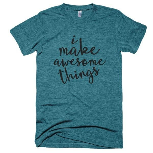 The ultimate crafters gift. The maker will love everything about the fit, feel and durability of a vintage t-shirt, in a brand new version from Yarn Mamas.
