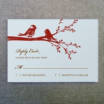 DIY Lovebirds Wedding RSVP Card from #downloadandprint Have this - free rsvp card template