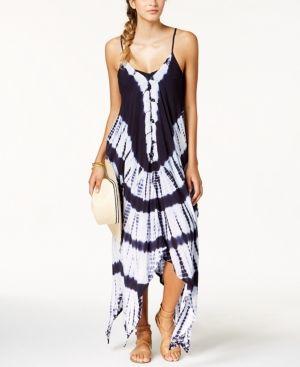 8e7c0f4f9d1 Raviya Tie-Dyed Handkerchief-Hem Maxi Dress Cover-Up - Swimwear - Women -  Macy s
