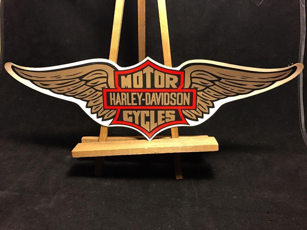 Vintage Harley Davidson Eagle Sheild Gold Wing Decal Sticker Harley Davidson Harley Vintage Harley Davidson