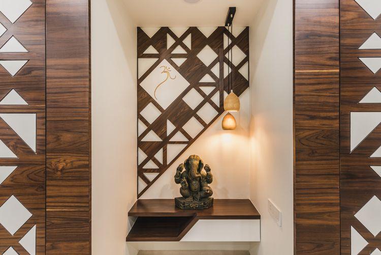 Holzpaneele An Der Wand 30 Ideen Fur Zeitgemasse Wandverkleidungen Pooja Room Door Design Room Door Design Ceiling Design Modern