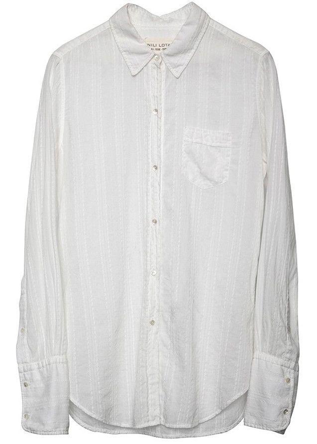 Nili Lotan nl shirt white – Elizabeth Charles