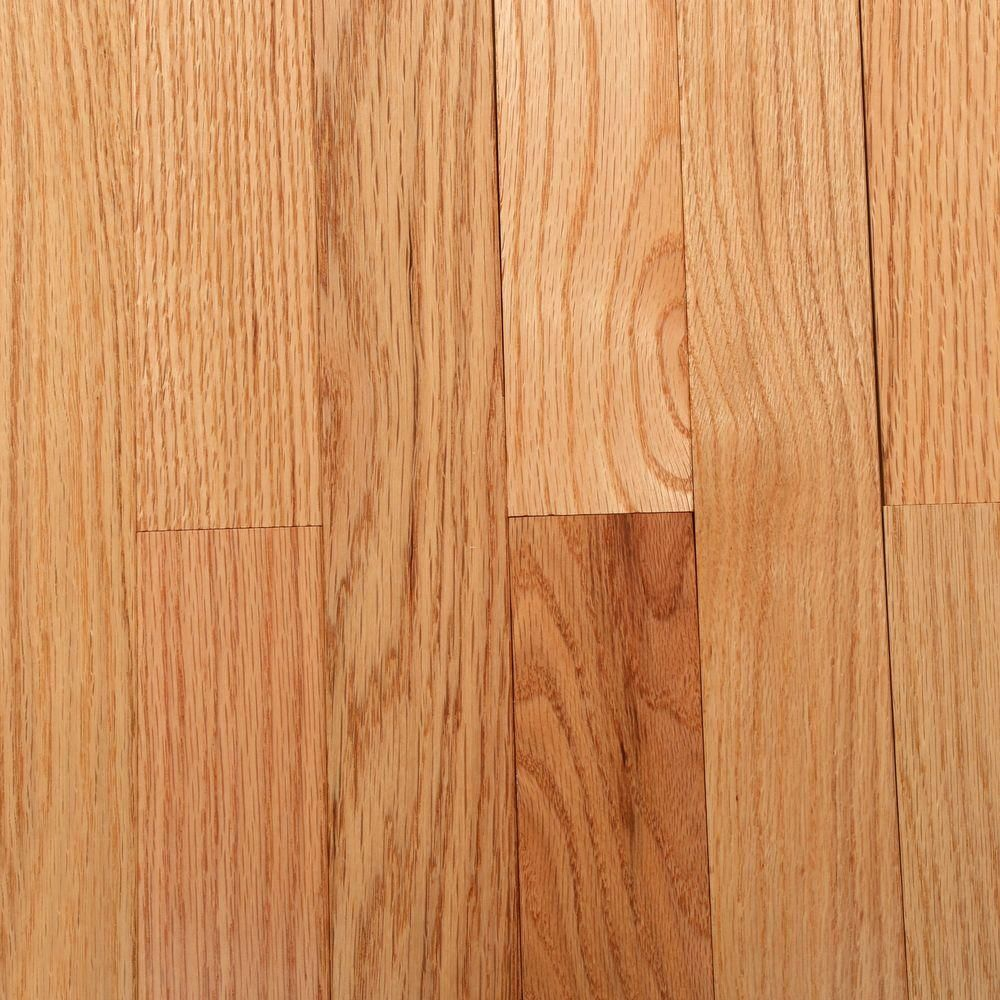 Bruce American Originals Natural Red Oak 3 4in T X 2 1 4 In W X Varying L Solid Hardwood Flooring 20 Sq Ft Case Shd2210 The Home Depot Solid Hardwood Floors Solid Wood Flooring Natural