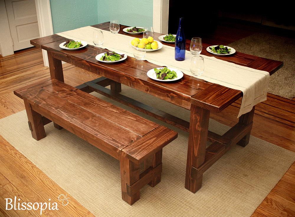 Custom Dining Table Handmade Farmhouse Style by Blissopia on ...