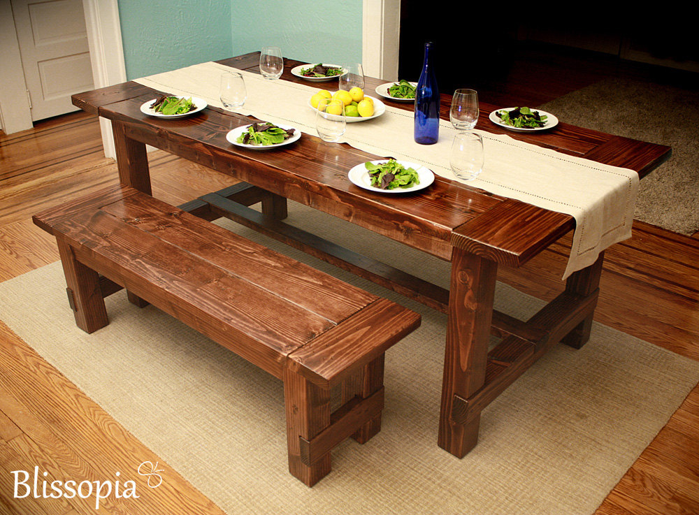 Custom Dining Table Handmade Farmhouse Style By Blissopia On Etsy