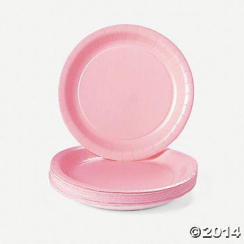 Light Pink Dessert Plates