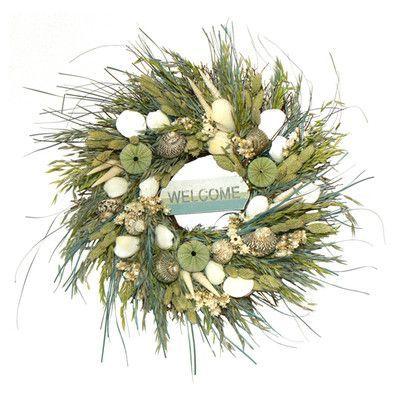 Urban Florals Welcome Beach Wreath