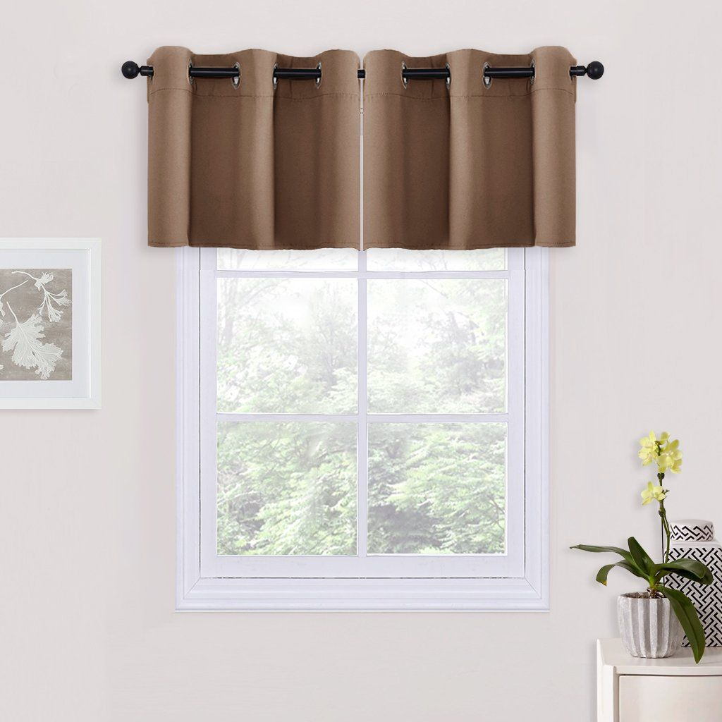 Bedroom Blackout Window Curtain Tiers Thermal Insulated Grommet