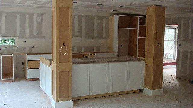 Kitchen island columns in 2019 doors kitchen decor - Kitchen island with post ...