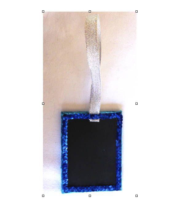 in Maroon Velvet 3h Mini Blackboard  Chalkboard Gift Tag