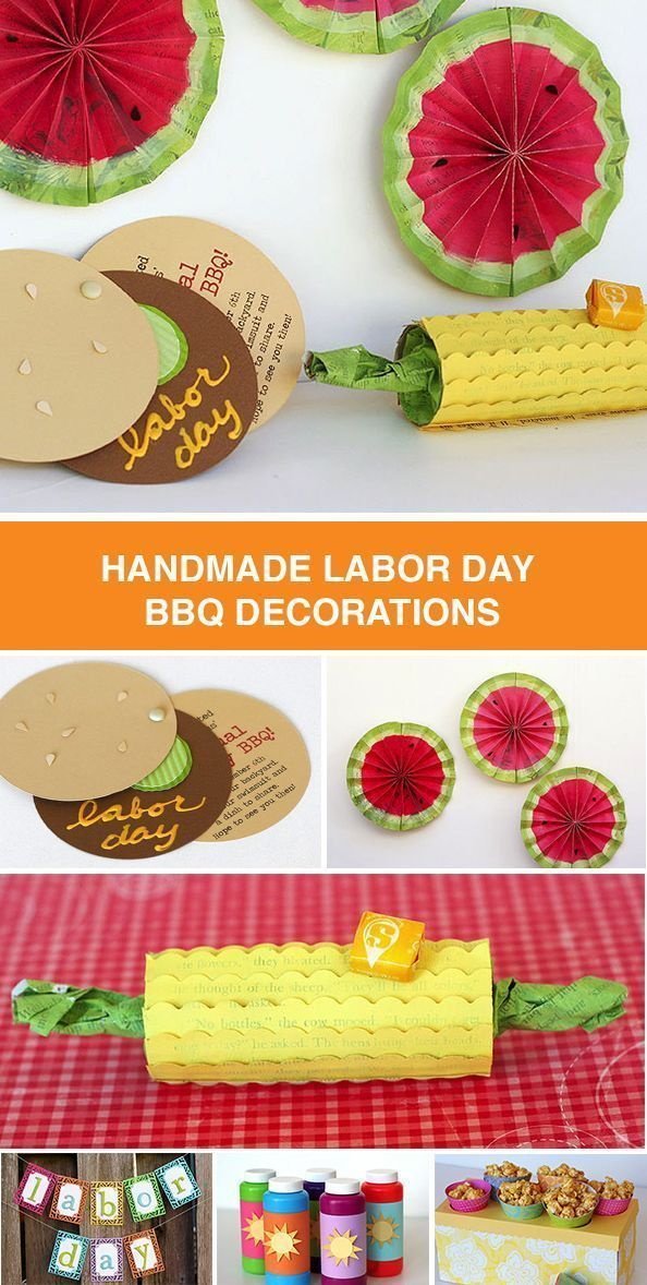 Labor Day BBQ #labordaycraftsforkids Create these easy and adorable DIY projects for your Labor Day BBQ or picnic. Click in for directions on how to make burger-inspired invitations, watermelon and corn on the cob decorations, banners for photo ops, treats and bubble party favors. #labordaycraftsforkids Labor Day BBQ #labordaycraftsforkids Create these easy and adorable DIY projects for your Labor Day BBQ or picnic. Click in for directions on how to make burger-inspired invitations, watermelon a #labordaycraftsforkids