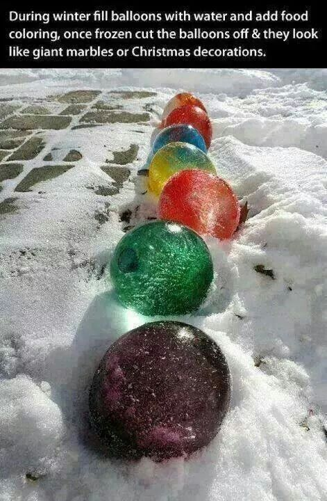 DIY Winter Marbles