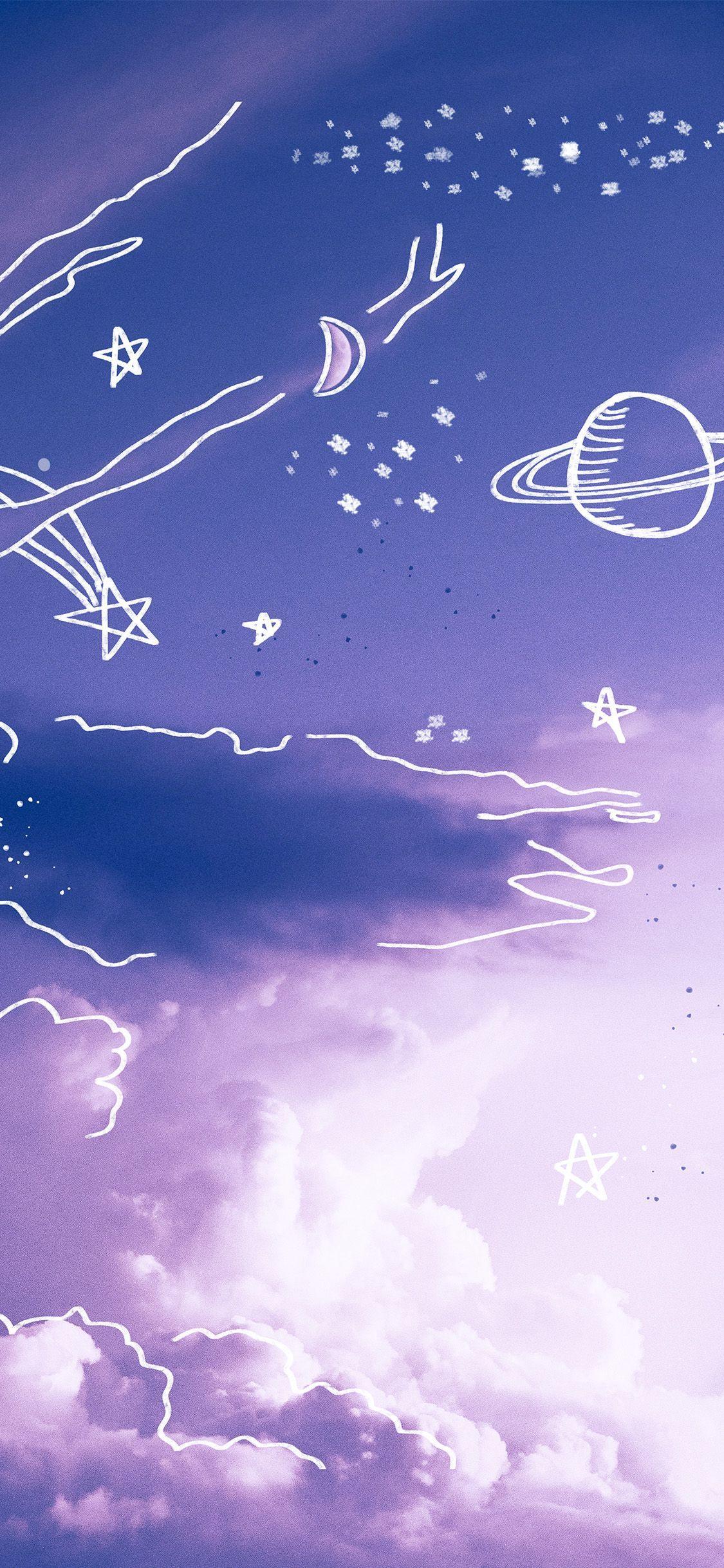 Manchado Cuello Largo Dino Funda Y Funda Para Iphone Purple Wallpaper Iphone Dark Purple Aesthetic Sky Aesthetic