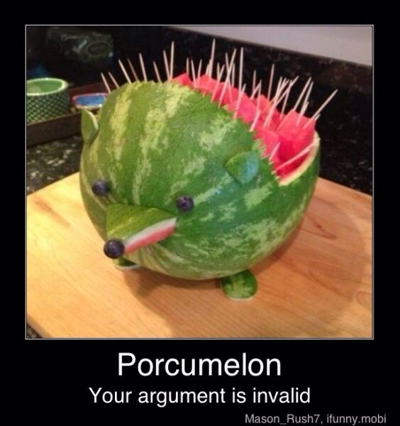 Porcupine mixed with watermelon.