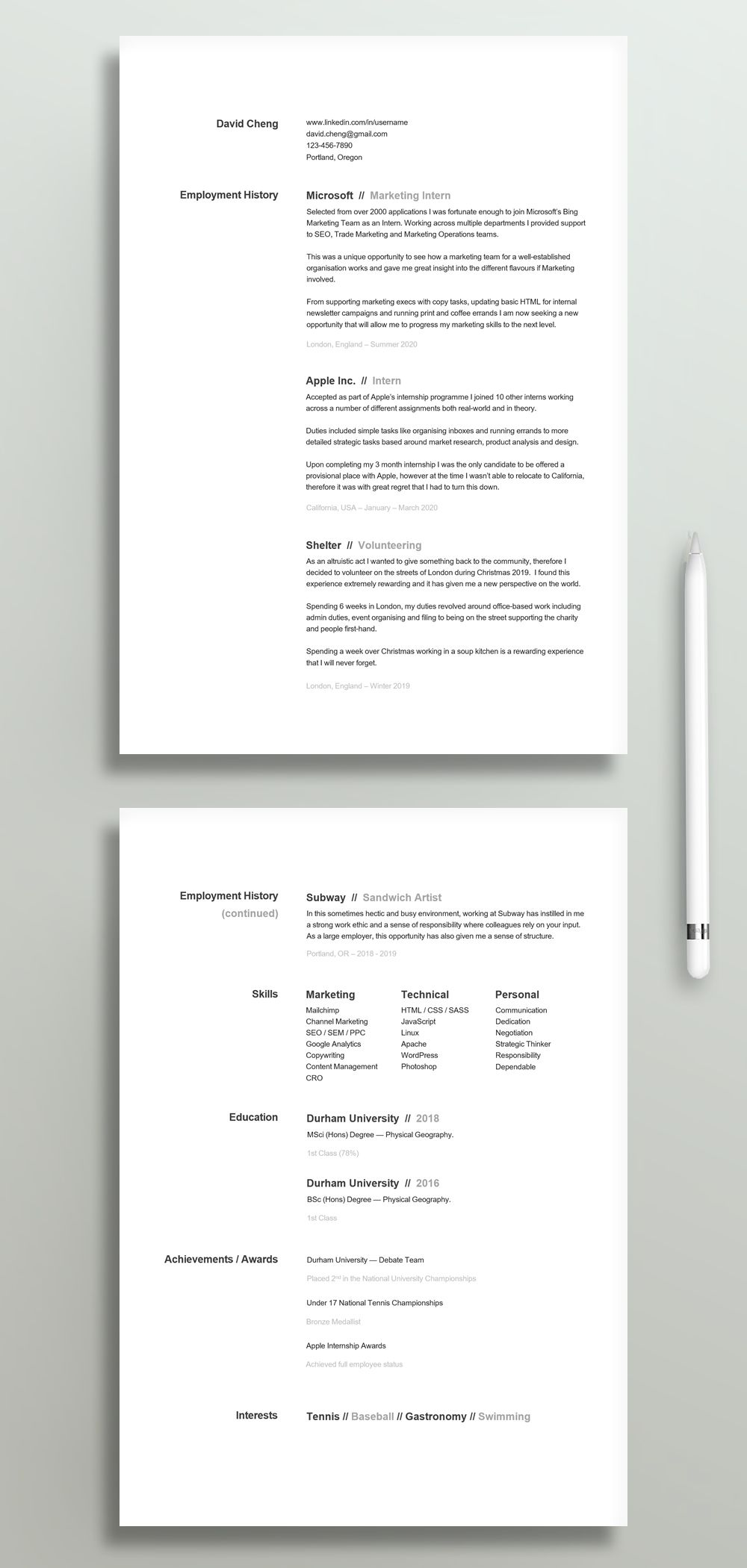 College Student Resume Template High School Resume First