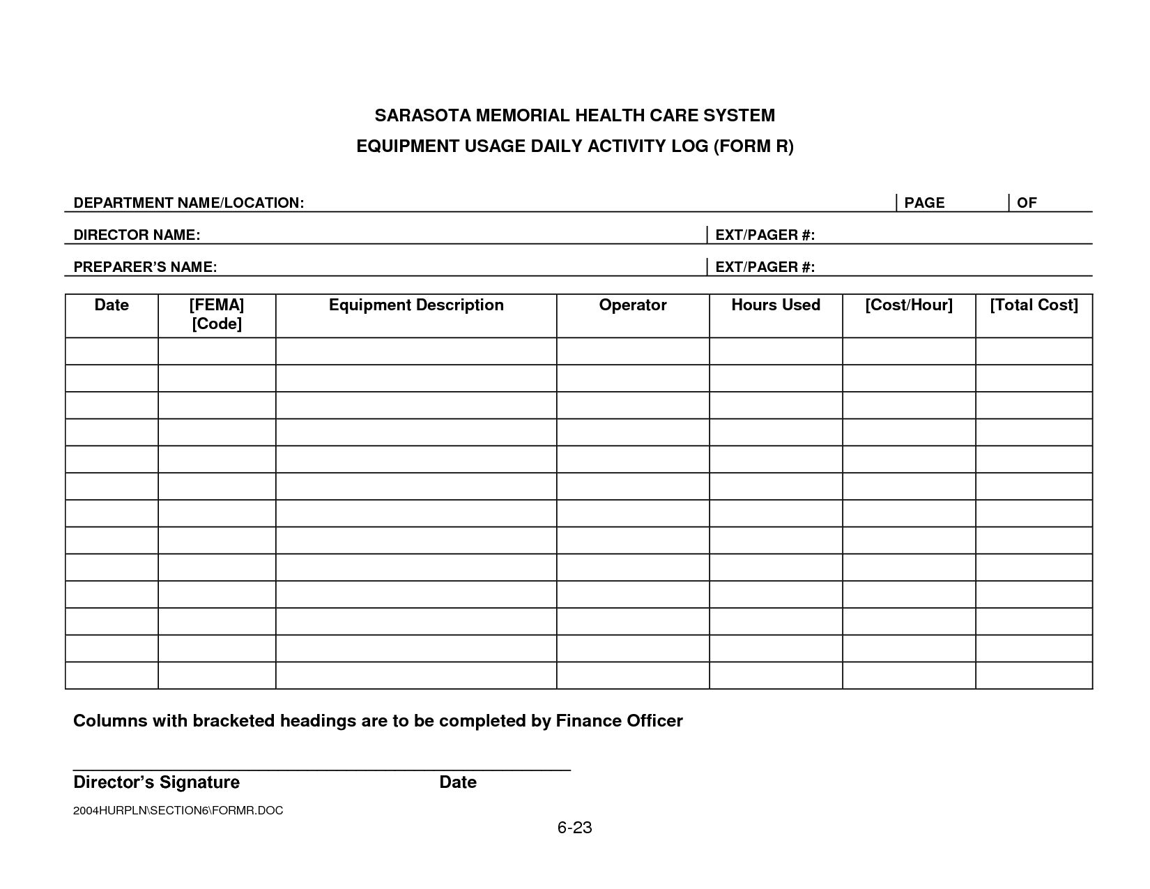 Security daily activity log template smhcs equipment for Security sign in sheet template