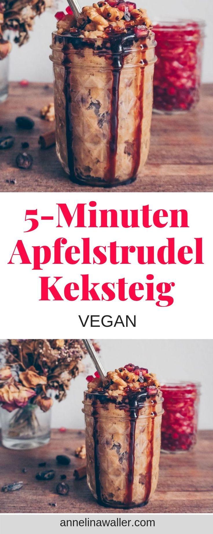 5 Zutaten 5 Minuten Apfelstrudel Keksteig #veganerezepte