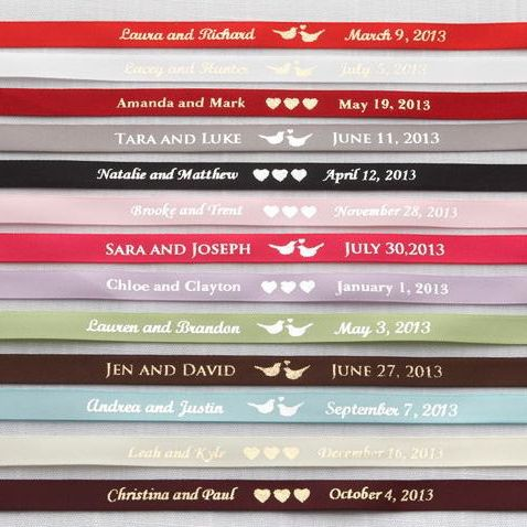 Personalized Satin Ribbon With Names