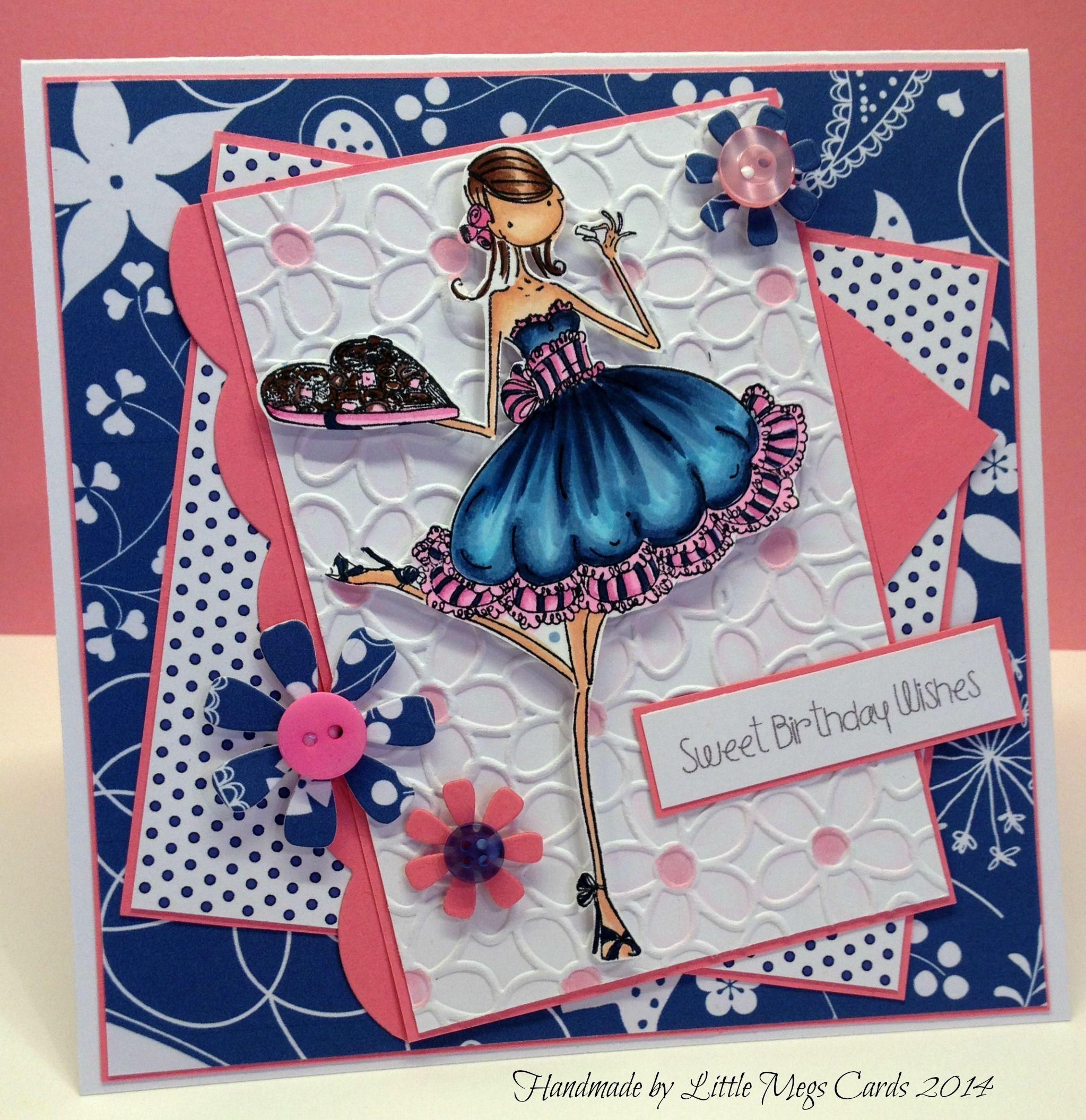 Handmade using Stamping Bella Uptown Girl stamp