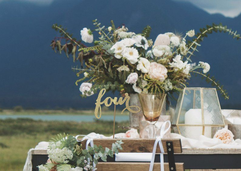Wondrous Antique Gold Table Numbers Rustic Centerpieces Wedding Download Free Architecture Designs Remcamadebymaigaardcom