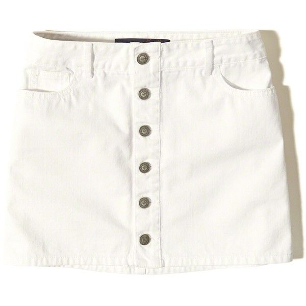 e3cc50e3f4c Hollister Button-Front Denim Skirt (140 ARS) ❤ liked on Polyvore featuring  skirts