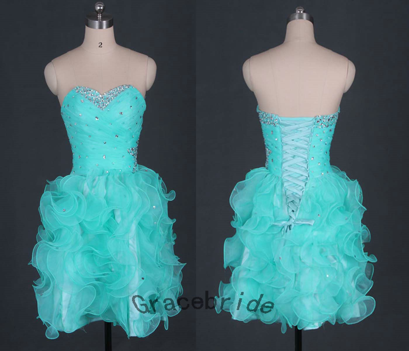 Latest greenblue prom dresses sweetheart cocktail by gracebride
